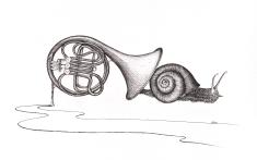 Escorgort - 30 x 40 cm - Stylo/papier
