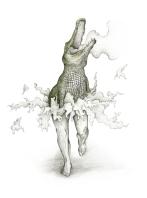 Danseuse étoile - 36 x 48 cm - Stylo & Aquarelle sur papier