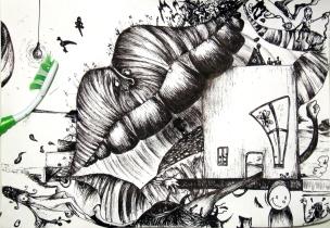 Rage dedans - A4 - Ink on Paper