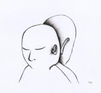 Deux Silences - 20 x 15 cm - Stylo sur papier
