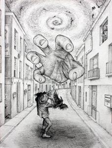 The Hand - 36 x 48 cm - Encre sur Papier
