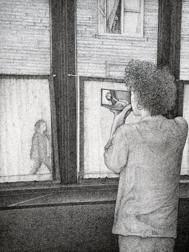 Frise - 36 x 48 cm - Encre sur Papier