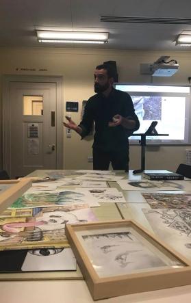 ©Pauline Hbmz Nov 18. Conférence/présentation de mon travail artistique auprès des élèves de Eton College à Eton (UK)